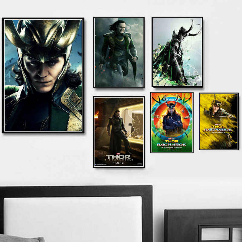 Hot Loki Tom Hiddleston Poster Avengers Superhero Canvas Oil Painting Poster Prints Art Wall Pictures For Living Room Home Decor