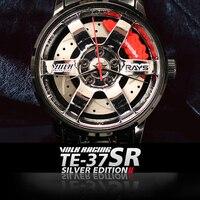 שעונים גברים DIZIZID מותג TE37 גברים ספורט שעונים גברים של קוורץ שעון איש רכב גלגלים עמיד למים שעון יד relogio masculino-בשעוני קווארץ מתוך שעונים באתר