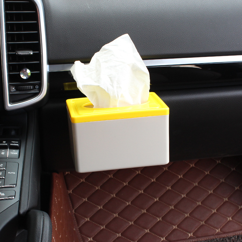 Leven Tissue Box For Car Mounted Tissue Box Cover Home Tissue Box Paper Extraction Cardboard Box Paper Feeding Lw-1605