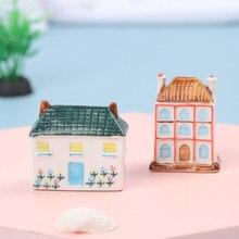 Mini Micro paisaje casa artesanía resina decoración de Jardín de hadas casa Villa en miniatura casa de muñecas Decoración Accesorios