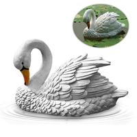 1pcs Simulation Swans Model Sculpture For Outdoor Home Garden Lawn Landscaping Decoration DIY Craft Display