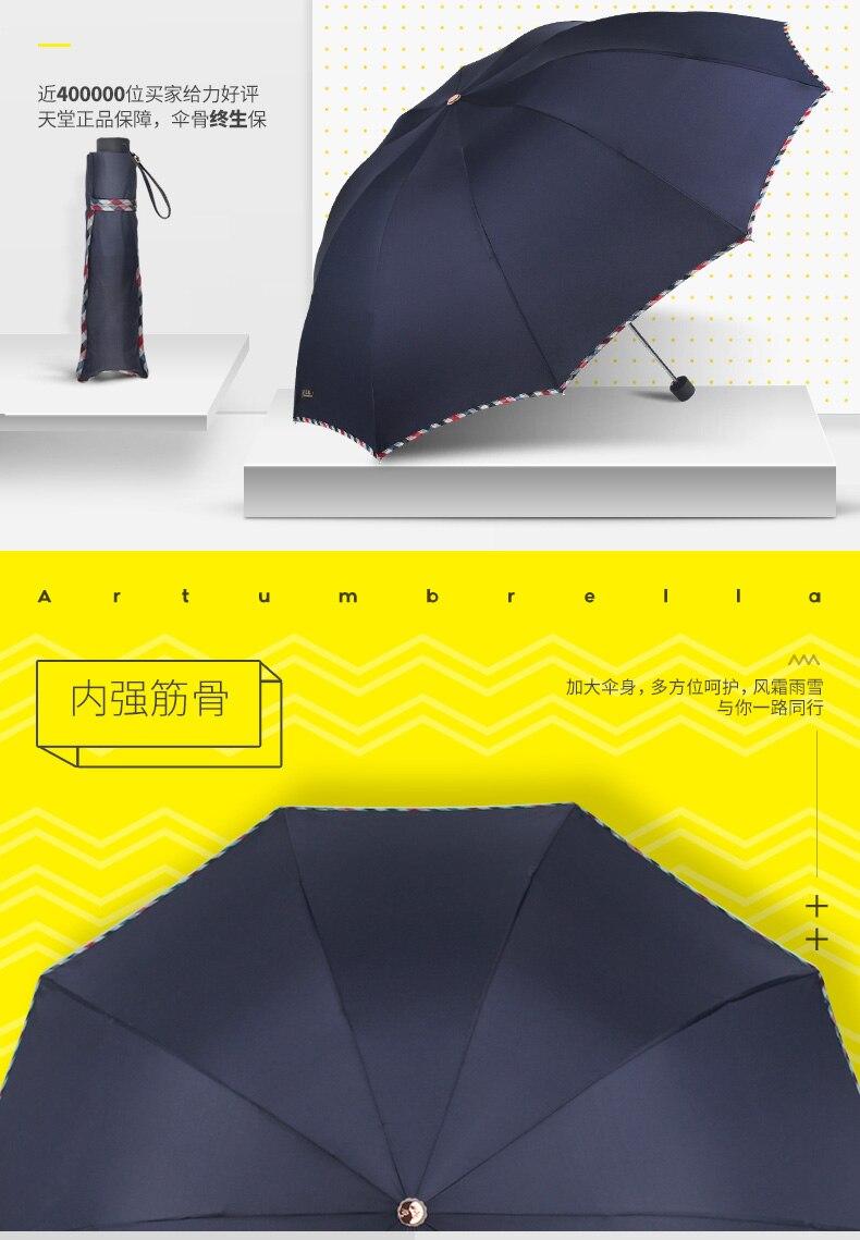 tri-fold chuva ou brilho duplo-uso guarda-chuva protetor solar