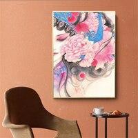 Pintado a mano de la Ópera de Pekín, arte para pared portarretrato de lona pinturas pósteres e impresiones artísticos estilo chino decoración fotos para la habitación