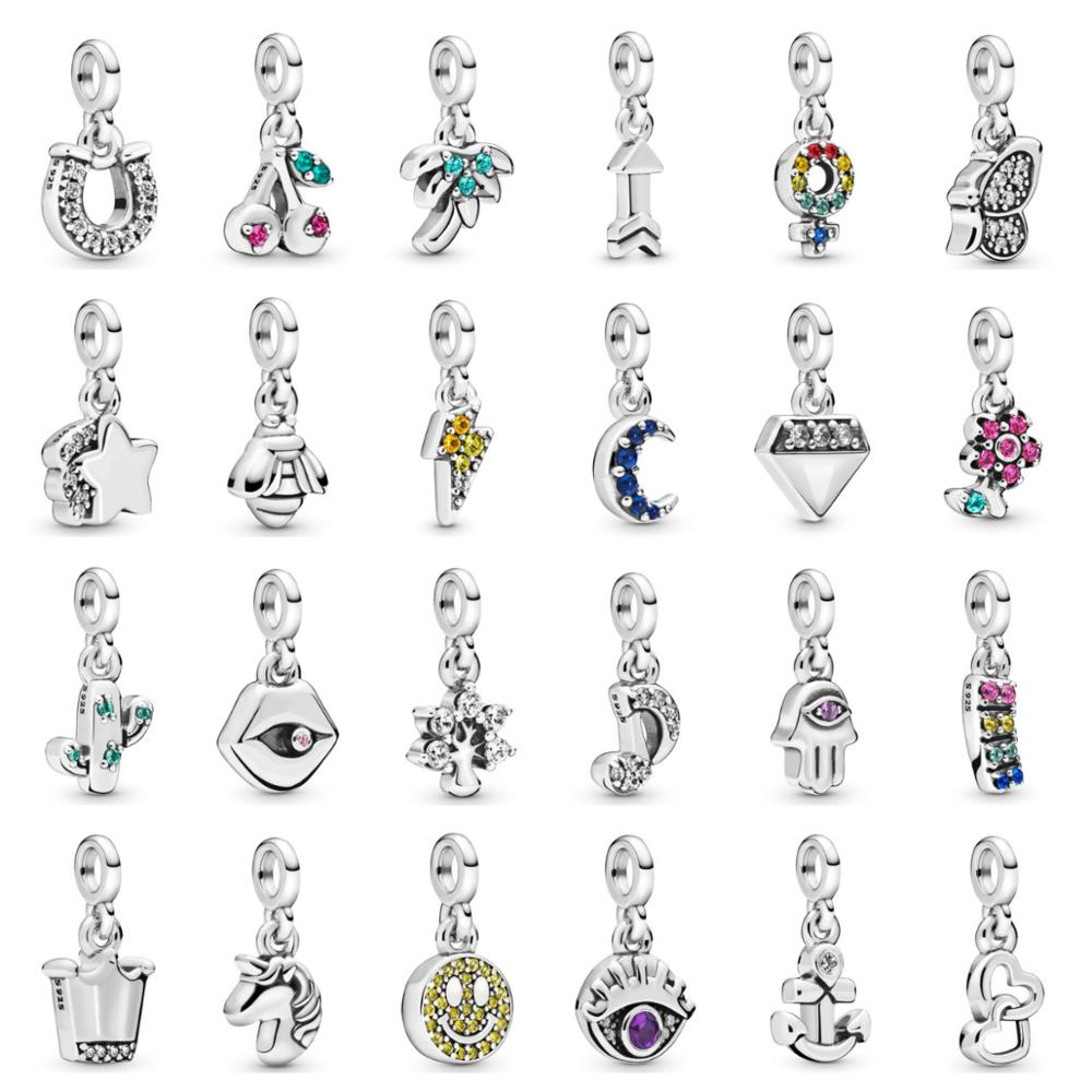 PDB DZ 35 Original Me Series Charm Pendant 925 Sterling Silver Fashion Glamour Woman Jewelry Gift For DIY Bracelet Free Shipping