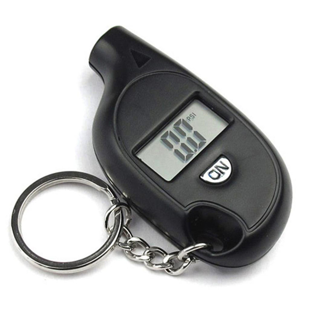 Mini voiture pression des pneus affichage numérique porte-clés jauge mètre manomètre baromètres testeur numérique LCD pneu Air pour Auto voiture outils