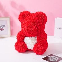 40 cm bear rose teddy bears flower rose bear DIY gifts Christmas Valentine's Day gift present Mother's Day Gift