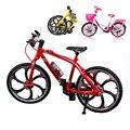 Mini dedo plegable bicicleta juguetes de aleación Linda bicicleta de montaña modelo de bicicleta decoración de tecnología excelente bicicleta juguetes para niños