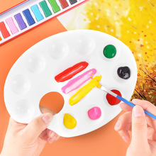 Student Oil Painting Pallet Drawing Tray Color Palette Art Paint Plastic Painting Tools Student stationery