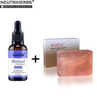 Face Facial Serum Retinol + Vitamin E Serum with Whiteing Soap Set Anti Wrinkle Anti Acne Anti Aging Skin Care