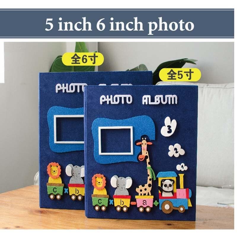 Large Capacity Child 5 6 Inch 600 Pocket Photo Album Page Type Children Family Insert Album Creative Cartoon Baby Grow Wedding