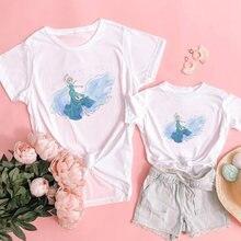 Одинаковые Семейные наряды футболка для девочек с принтом «Холодное
