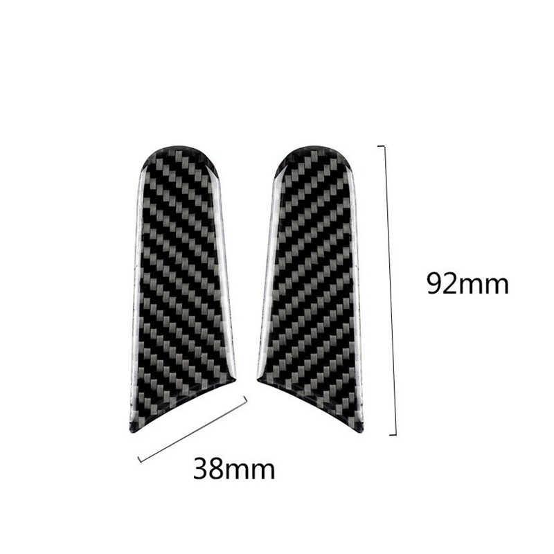 Serat Karbon Kaca Cermin Stiker Strip Trim Cocok untuk-Porsche Macan 2015-2018 Mobil Styling Aksesoris