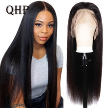 Wigs Human-Hair Aliqueen 150%Density Lace-Front Women Straight for Brazilian HD Closure