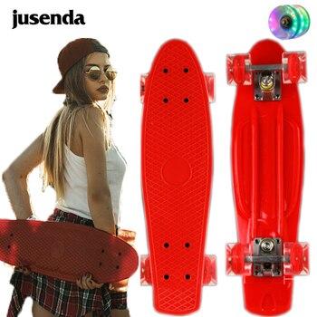 Jusenda-monopatín de 22 pulgadas para niños, Mini Cruiser, Penny Board Pastel, Longboard,...