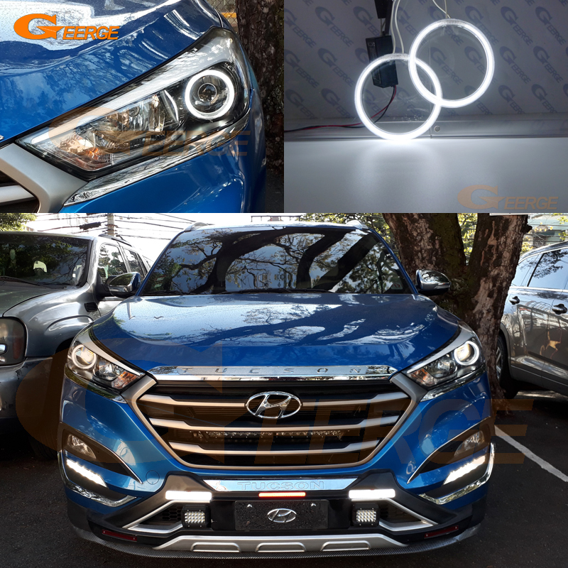 Excellent CCFL Angel Eyes Kit Halo Rings Ultra Bright For Hyundai Tucson TL 2015 2016 2017 2018 ONE PROJECTOR HEADLIGHT