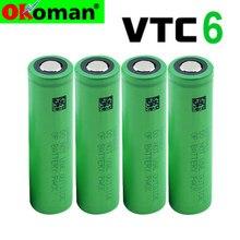 2021 original novo vtc6 3.7v 3000mah 18650 li-ion bateria 30a descarga para us18650vtc6 ferramentas baterias