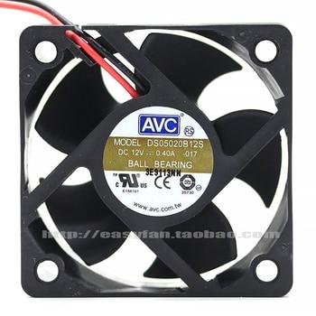 New original AVC DS05020B12S DC12 0.4A 5CM double ball fan 5020 cooling fan 50x50x20mm new for avc 6cm 6025 double ball 4 wire fan ds06025b12l 12v 0 30a server cooling fan