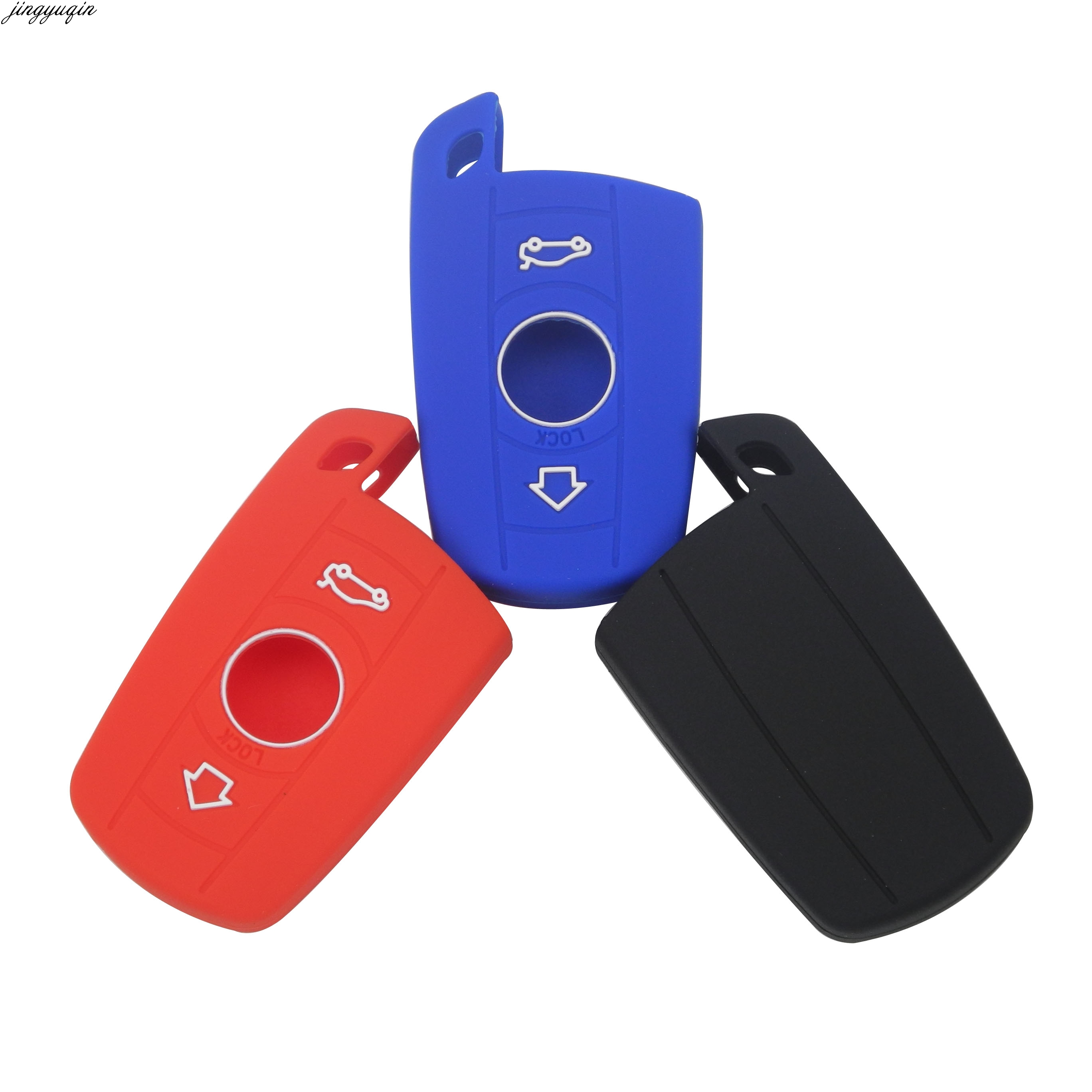 Car Key Case For BMW E90 E60 E70 E87 3 5 6 Series M3 M5 X1 X5 X6 Z4 KeyChain Cover Remote Controller Key Holder Silicone