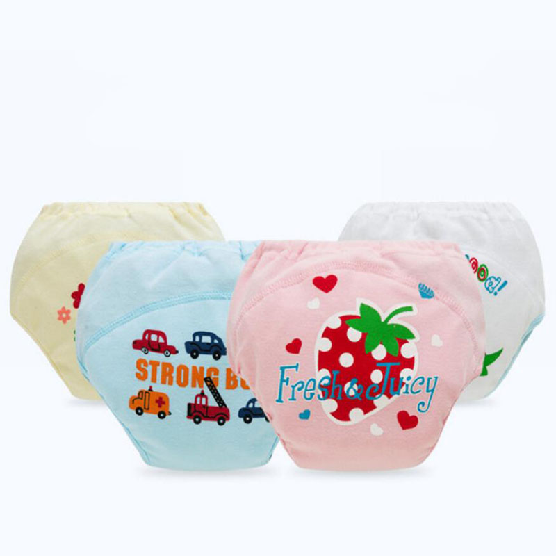 8pcs/lot four Layers Toilet Potty Training for Baby Reusable Waterproof Toddler Nappy Panties Boy Girl Short Briefs Coward
