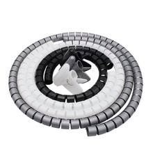 1 metro cabo cabo envoltório organizador tubo espiral cabo enrolador cabo protetor flexível gestão fio de armazenamento tubo