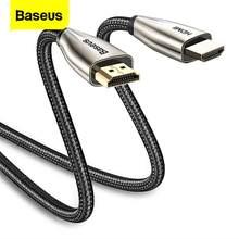 Baseus 4K HDMI HDMI kablosu naylon HDMI kablo ayırıcı Video kablosu PC monitörü dijital Splitter PS4 anahtarı TV kutusu projektör
