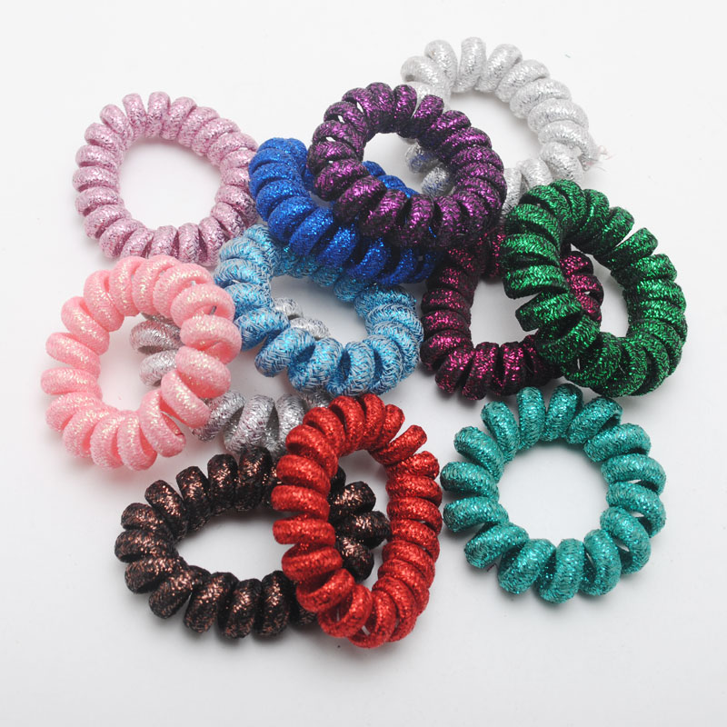 Scrunchie Glitter Elastic Hair Ring Ponytail Shiny Hair Ties Rope Gum Lot Useful