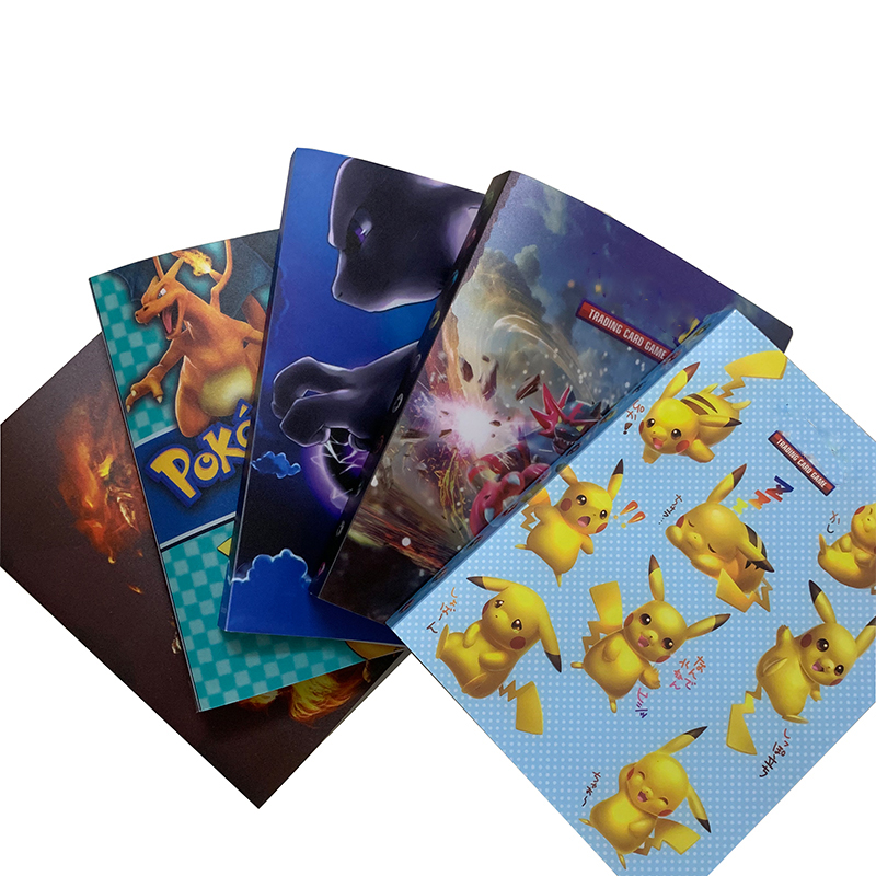 Hot Sale Cartoon Characters Holder Album Toys For Novelty Gift Pokemones Cards Book Album Can Put 240pcs Game Cards Kids Gifts