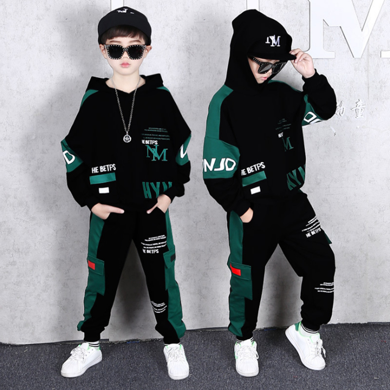 2021 Spring Autumn Kids Clothes Boys 3 4 5 6 7 8 9 10 11 12 14 Years Boys Clothing Set Sports Suit Boys Hooded Jacket And Pants 2