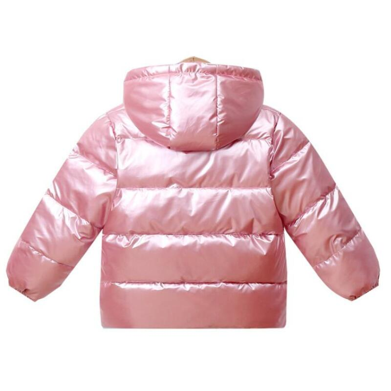 New Boys Girls Clothes Kids Casual Hooded Down Coats Autumn Winter Warm Fashion Outwear Children Solid Jacket For 2-6 Years 5