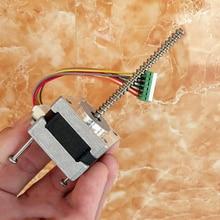 1,8 степени nema 14 35 мм 2-фазный 6 проводов Мини шагового двигателя двойной шариковый подшипник 64 мм длиной линейный винт вала 5 мм