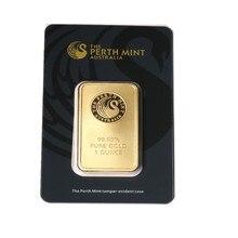 Бар Перт из мятного золота, бар Перта из мятного золота, золотые слитки, аргоры APMEX, Ebay бар, канадский позолоченный Реплика бар