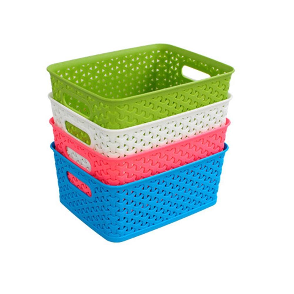Portable Bath Basket Storage Basket Plastic Small Bath Basket