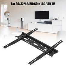 TV duvar montaj aparatı Maxed yükleme 50KG hiçbir gevşek 30/32/42/55/60 inç LCD/LED TV tutucu destek monitör braketi kolay Installa