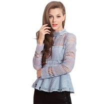 New Summer Womens Short tops,Originally designed new lady Chiffon Lace Jacket for autumn and winter in 2019,lace tops of women!