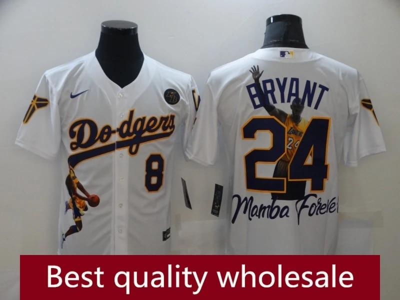 Men's Los Angeles Lakers Memorial Michael Bryant Mitchell & Ness White Hardwood Classics Authentic Jersey mlb baseball jerseys l