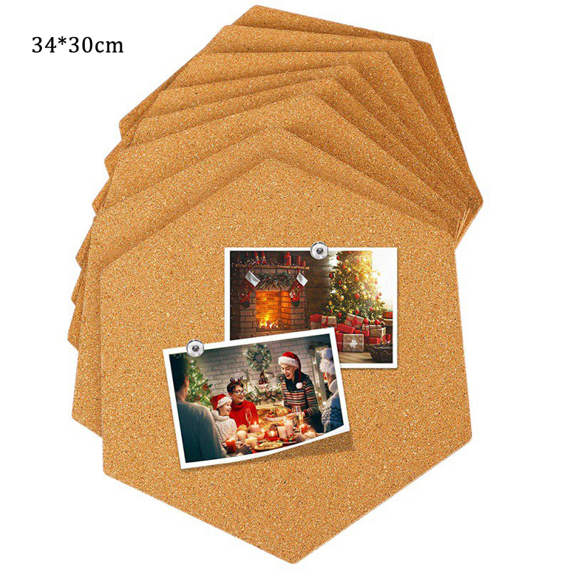 New Corcho Pared Message Wood Tablica Korkowa Frame Bulletin Cork Board Home Hexagonal Square Circle Photo Wall Home Decoration