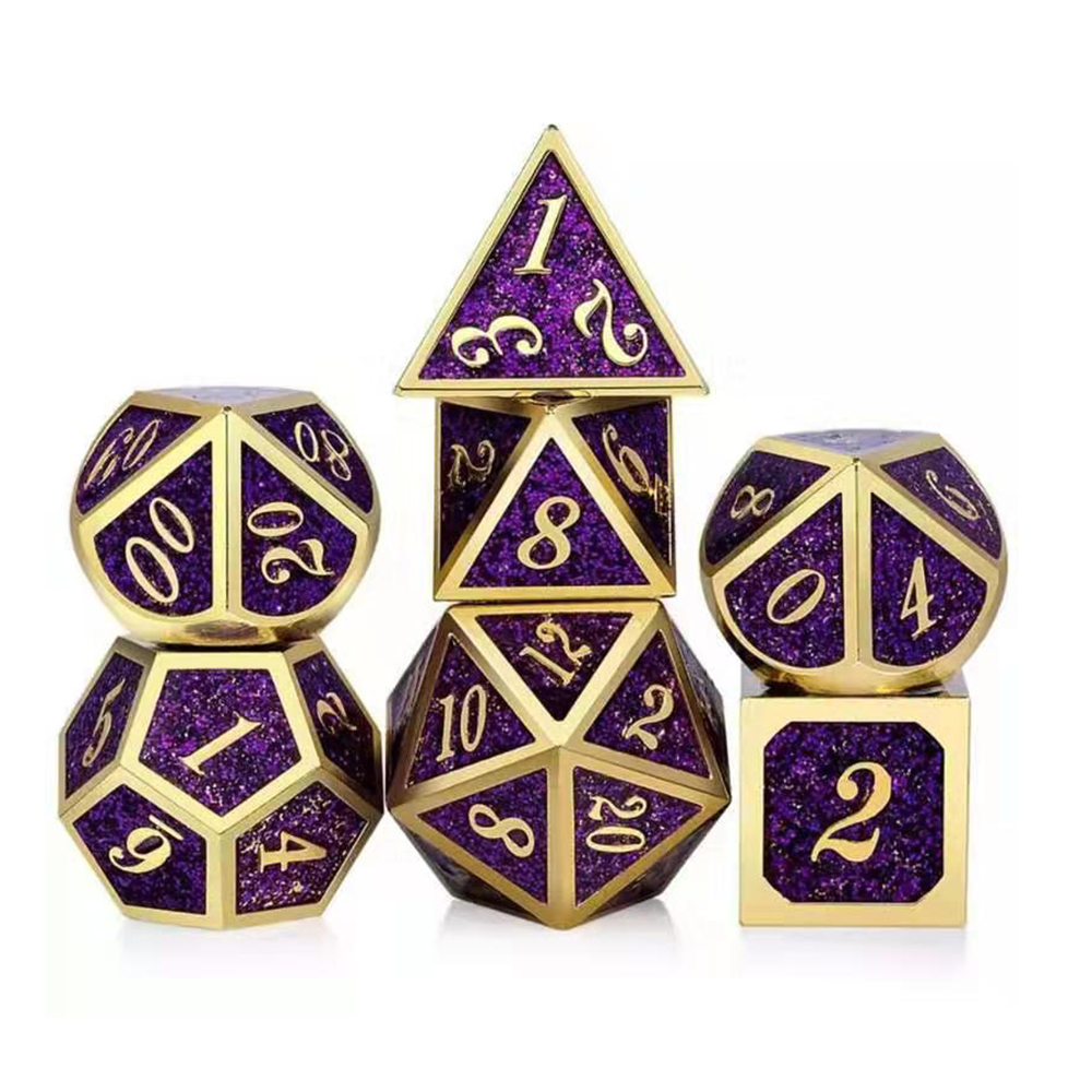 Starlight Metal Dice Dnd Dices Set Rpg Polyhedral Solid Dungeons And Dragons Table Games D6 D8 D10 D20 Zinc Alloy D&d Dices 7pcs