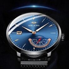 AILANG Top Brand Luxury Men Mechanical Watch Waterproof steel mesh Casual Automatic Date Male Clock reloj hombre marca de lujo