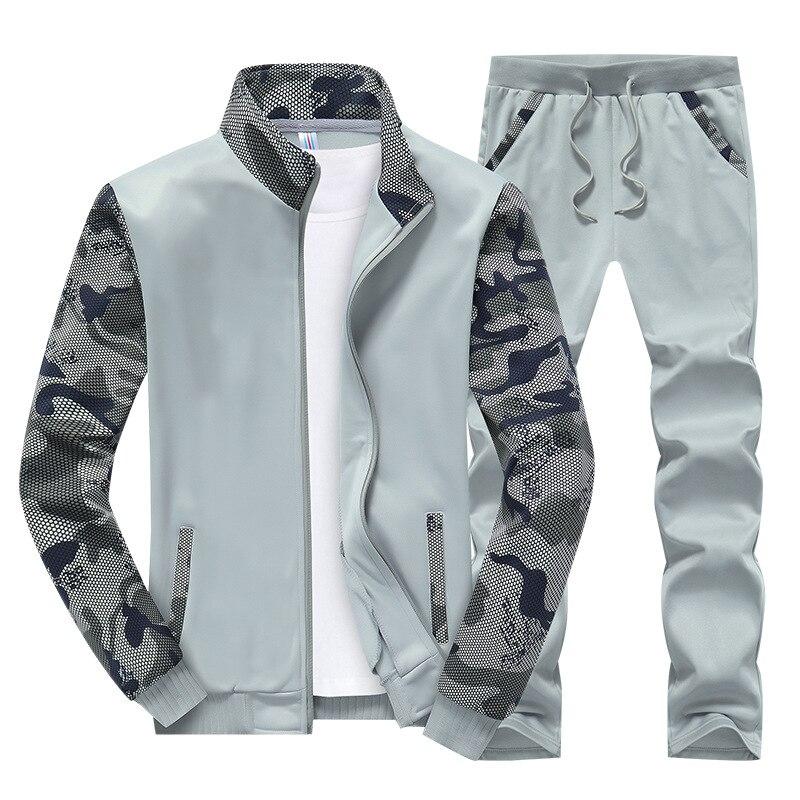 MEN'S Hoodie MEN'S Sport Suit Men'S Wear Slim Fit Couples Sports Clothing Trend Camouflage Set Batch
