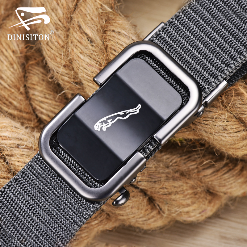 DINISITON Men's Designer Nylon Army Belt Male Tactical Military Canvas Belts Outdoor Strap Man Automatic Buckle Belt For Men