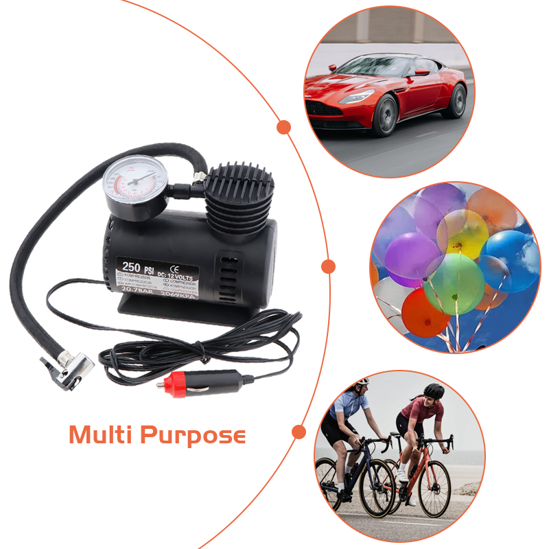 DC 12V 300 PSI Portable Air Compressor Car Electric Inflator Tyre Pump For Car Motorcycle Bicycles Electric Car ATV Truck Etc-in Inflatable Pump from Automobiles & Motorcycles