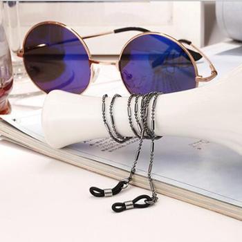 Smycz do okularów koralik łańcuszek do okularów modne okulary pasek okulary sznury akcesoria do okularów Casual tanie i dobre opinie CN (pochodzenie) Unisex Metal 70cm Sunglasses Cords Ze stopu cynku Stałe