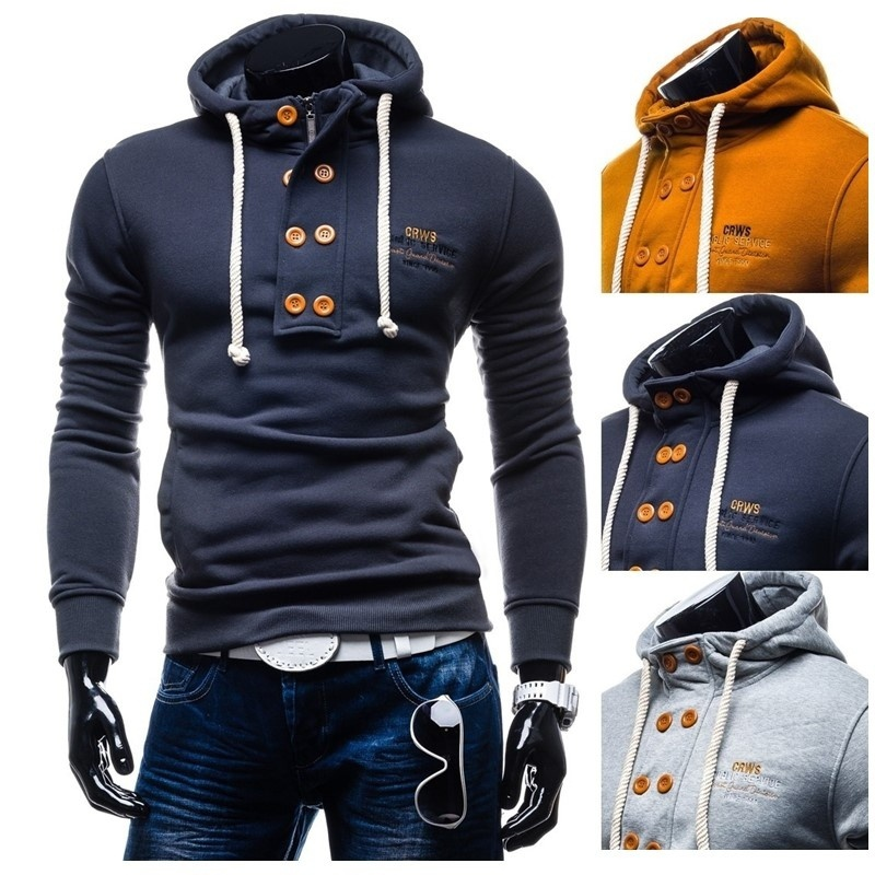 Zogaa Autumn Men Hoodies Sweatshirts Long Sleeve Solid Color Men's Hoodie streetwear 3 colors Polyester Yes mens hoodies