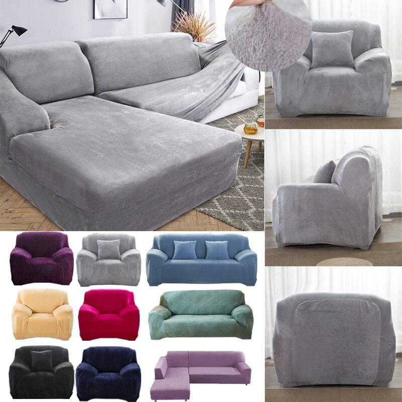 Thick Plush Sofa Covers For Living Room Sofa Towel Slip-resistant Keep Warm Sofa Cover  Strech Sofa Slipcover For Winter