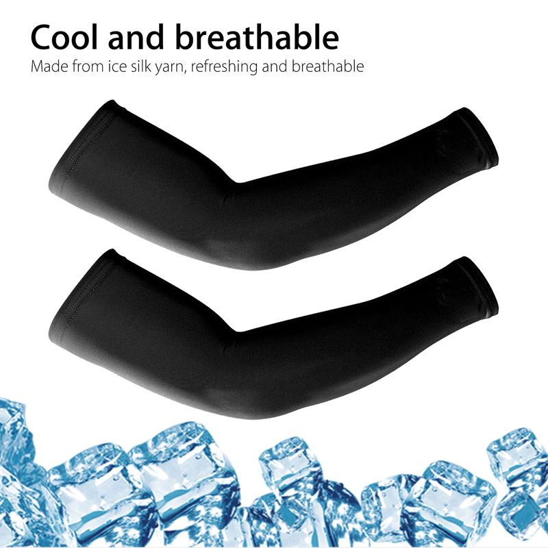 running - 4 Pairs Unisex Cooling Arm Sleeves Cover Cycling Running UV Sun Protection Outdoor Men Nylon Cool Arm Sleeves for Hide Tattoos