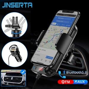 Transmetteur FM Bluetooth 2020 | Avec Support pour téléphone, lecteur MP3, Kit de voiture, mains libres, Support de carte TF, disque U AUX, lecteur de musique, 5.0
