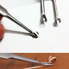 Watch Repair Tools DIY 2 Pcs Leather Craft Cutting Trimming Knife Reamer Fillet