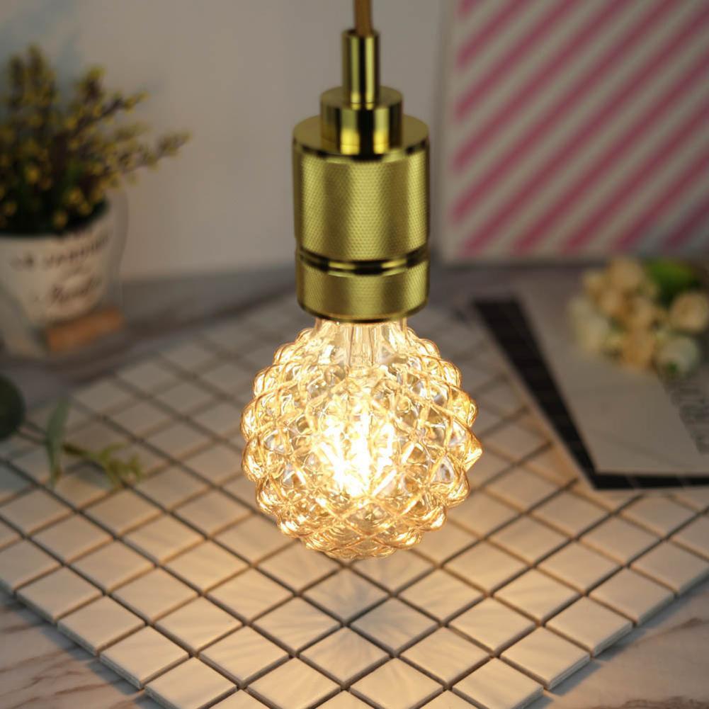 Retro LED Light Bulb 220V 4W E27 G95 Pineapple Shape Warm White Light Decorative LED Bulb Warm White Light Soft Not Glaring