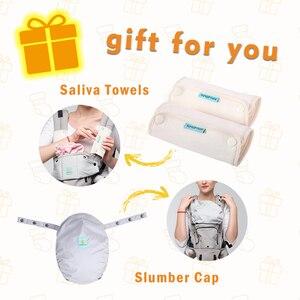 Image 2 - Bolsa canguru para bebê, bolsa ergonômica para bebê recém nascido a 36 meses de estação completa de algodão