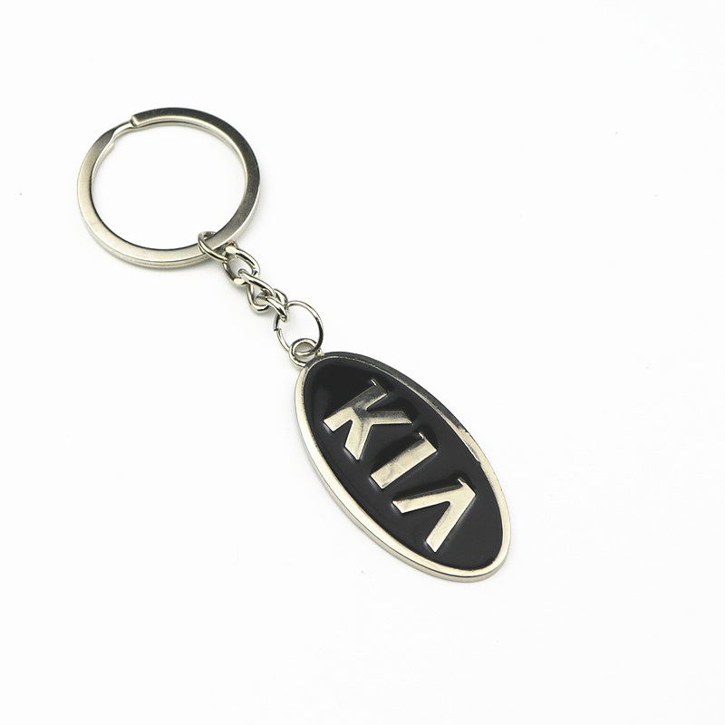 3D Metal Car Key Ring Keychain Key Holder Logo Auto Car Fashion Accessories For Kia Rio K2 K3 K5 Sorento Sportage Car Styling
